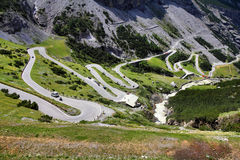 Stelvio Road Royalty Free Stock Photos