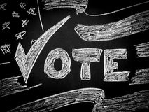 Stem in Amerikaanse verkiezing stock fotografie