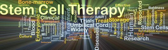 Stem cell therapy background concept glowing Stock Photo