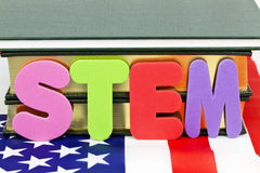 Stem Education. Popular designation of STEM education (Science, Technology, Engineering, and Mathematics) references life and career-ready skills for royalty free stock photography