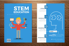 Stem education book cover and flyer template Stock Photo