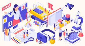 Free STEM Education Isometric Concept Stock Photography - 195702652