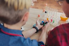 Stem education. Physical experiments at school Stock Photography