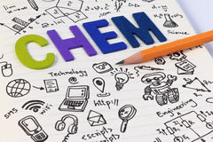 STEM education. Science Technology Engineering Mathematics. STEM concept with drawing background. STEM education background stock image