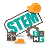 STEM icon flat design EPS 10 vector Stock Photo