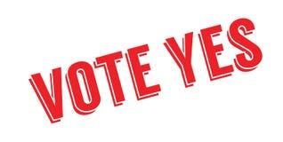 Stem ja rubberzegel stock illustratie