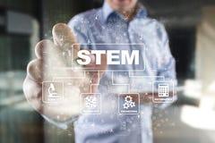 stem Matematik för vetenskapsteknologiteknik Sci-Tech teched äganderätt för home tangent för affärsidé som guld- ner skyen till arkivfoton