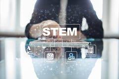 stem Matematik för vetenskapsteknologiteknik Sci-Tech teched äganderätt för home tangent för affärsidé som guld- ner skyen till stock illustrationer