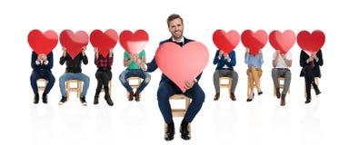 Stem in met de liefde royalty-vrije stock foto