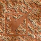 Stem op een steen Royalty-vrije Stock Foto's