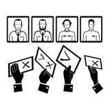Stem, verkiezingen stock illustratie