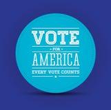 Stem voor de uitstekende affiche van Amerika stock illustratie