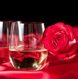 Stemless white wine glasses Stock Image