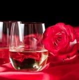 Stemless witte wijnglazen Stock Afbeelding