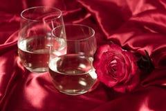 Stemless witte wijnglazen Royalty-vrije Stock Afbeelding
