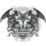 stemma del cranio di lerciume royalty illustrazione gratis