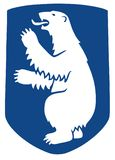 Stemma della Groenlandia, guarnizione, bandiera dell'emblema nazionale illustrazione di stock