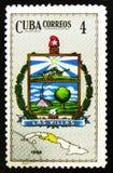 Stemma della provincia di Las Villas, ora villa Clara Province, circa 1966 Fotografia Stock Libera da Diritti