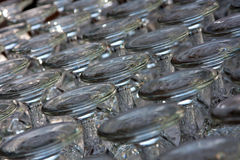 Stemmed Glass Upside Down Royalty Free Stock Images