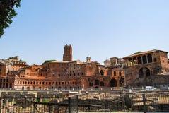 Stemmen van colosseum, de markten van Trajan, Rome, Italië royalty-vrije stock afbeeldingen