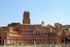 Stemmen van colosseum, de markten van Trajan, Rome, Italië royalty-vrije stock afbeelding