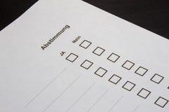 Stemmen-veelvoudige selectiedozen ja Nr stock illustratie