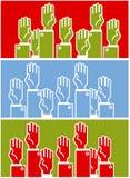 Stemmende groep mensen vector illustratie