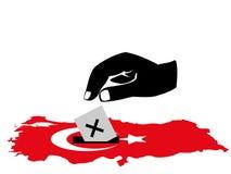 Stemmende Turkse verkiezing stock illustratie