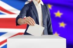Stemming, Brexit-Concept royalty-vrije stock afbeeldingen