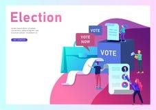 Stemming en verkiezing concept Pre-election campagne Bevordering en reclame van kandidaat stock illustratie