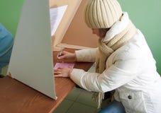 Stemming in tweede ronde - lokale verkiezingen in Polen Royalty-vrije Stock Afbeelding