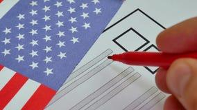 Stemmingsdocument stemming in de Verenigde Staten van Amerika royalty-vrije illustratie