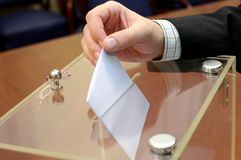 Stemmingstijd, verkiezingenconcept stock afbeelding