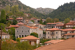 Stemnitsa village Arcadia Royalty Free Stock Photography