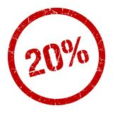 20% Stempel stock abbildung
