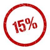 15% Stempel vektor abbildung