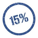 15% Stempel stock abbildung