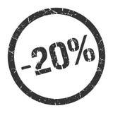 -20% Stempel lizenzfreie abbildung