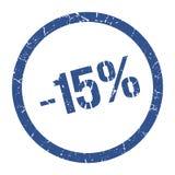 -15% Stempel vektor abbildung