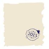 Stempel 2013 auf Papier Stockfoto