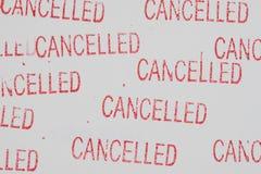 Stempel annulliert auf Weißbuch Lizenzfreie Stockbilder