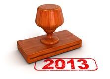 Stempel 2013 (Beschneidungspfad eingeschlossen) Lizenzfreie Abbildung