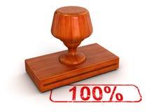 Stempel 100% (Beschneidungspfad eingeschlossen) Lizenzfreies Stockbild