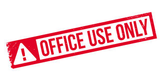 Stempel der Büronutzung nur Stockbild