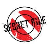 Stempel der geheimen Akte Stockfotografie