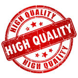 Stempel der hohen Qualität Stockbild