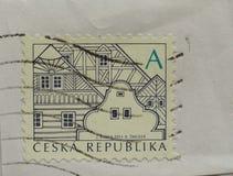 Stempel der Tschechischen Republik Stockfotografie
