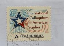 Stempel der Tschechischen Republik Lizenzfreie Stockbilder