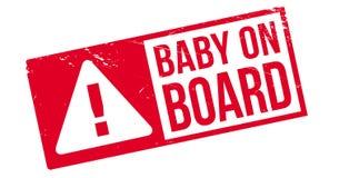 Stempel des Babys an Bord Lizenzfreie Stockbilder