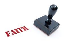 Stempel des Glaubens Stockfoto